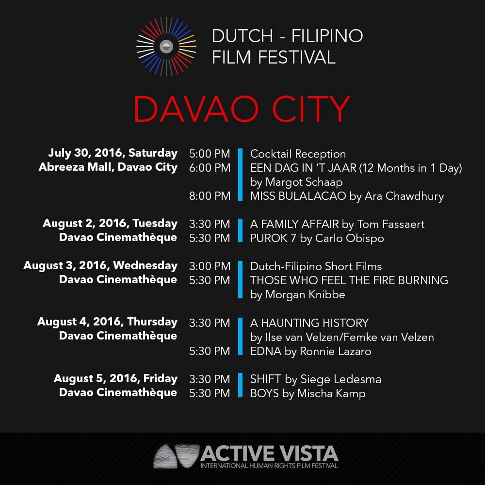 Active Vista Dutch Filipino Film Festival Davao