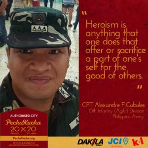 Capt. Alex Cabales - Heroism as a Soldier