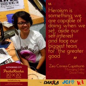 Zea Capistrano- Heroism in Journalism