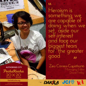 Zea Capistrano- Heroism in Journalism