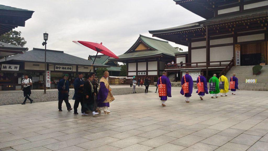 The March of the Monks Naritasan Shinshoji Temple